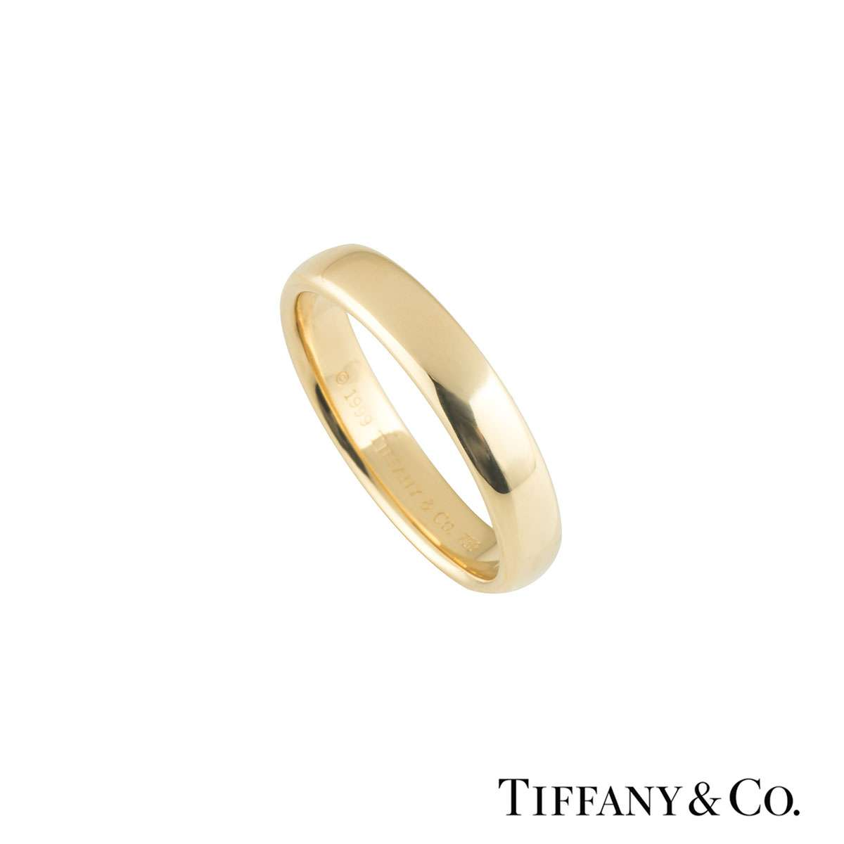 Tiffany & Co. Yellow Gold Elsa Peretti Stacking Band Ring